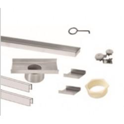 """QM Drain 33 Adjustable 3"""" Outlet High Flow Base Kit, Linear Drain Delmar Series Parts"""