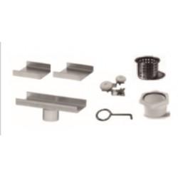 "QM Drain 33.601.A Adjustable 2"" Outlet Delmar Series Accessories Kit, Size - 8"""