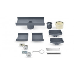"""QM Drain 88.601.A Adjustable 2"""" Outlet Lagos Series Accessories Kit, Size - 8"""""""