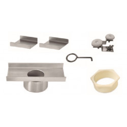 """QM Drain 88.601.B Adjustable 3"""" Outlet High Flow Lagos Series Accessories Kit, Size - 8"""""""