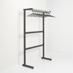 Magnuson T-EV/K-100 Tertio Single Sided Floor Rack-Powder-Coated Frames, Finish-Dark Grey