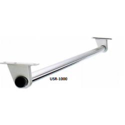 "Magnuson USR1000 Burr Under Shelf 1"" o.d. Stainless Steel Rod, Finish-Medium Grey"