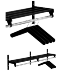 Magnuson WH01A Villa Single Shelf Hanger Style Wall Rack Mounted W/ 2 Brackets