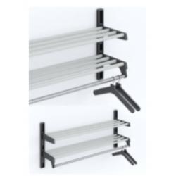 Magnuson WH02A Double Shelf Villa Hanger Style Wall Rack Mounted W/ 5 Brackets
