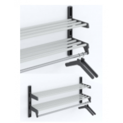 Magnuson WH02A Double Shelf Villa Hanger Style Wall Rack Mounted W/ 7 Brackets
