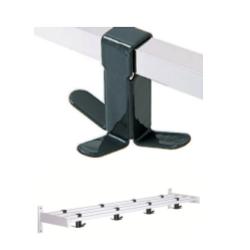 Magnuson WK01A-10-K73 Villa Single Shelf Hook Style Wall Rack W/ 24x Triple Prong Hooks And 4 Brackets