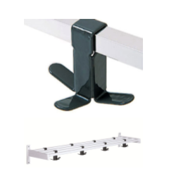 Magnuson WK01A-19-K73 Villa Single Shelf Hook Style Wall Rack W/ 48x Triple Prong Hooks And 7 Brackets