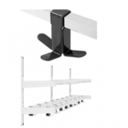 Magnuson Group WK02A Double Shelf Villa Hook Style Wall Rack W/ 6x Triple Prong Hooks And 2 Brackets