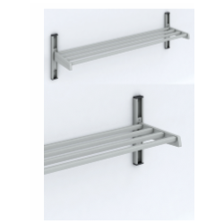 Magnuson WU01A Single Shelf Villa/ Boot Utility Style Wall Rack Mounted W/ 5 Brackets