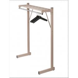 """Magnuson SHA Ridge Hanger Single Sided Steel Floor Rack W/ 1"""" O.D. Stainless Steel Hanger Rod"""