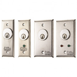 Alarm Controls MCK Stainless Steel Wall Plate, 4A, Single Pole Action Key Switch Station
