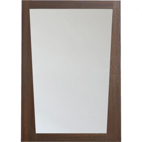 American Imaginations AI-12 Modern Plywood-Melamine Wood Mirror In Wenge