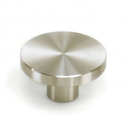 "Laurey 89301 Melrose Stainless Steel 1-1/2"" Large Flat Top Knob"