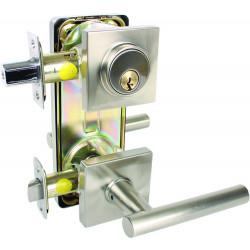 "Pamex FI Contemporary Series Grade 2 Interconnected Locks (4"" C-T-C) - Passage, Single Locking"