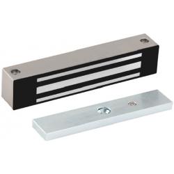 Locknetics W Satin Stainless Steel Wheatherproof Mag Lock W/ Aluminum Brackets