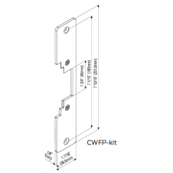 "Locknetics CWFP-KIT Face Plate (7 15/16"" x 1 7/16"") Radius Corner Wood Applications"
