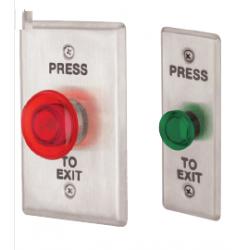 Locknetics IPB LED Illuminated Mushroom Style Round Button, 2 Lenses, S.P.D.T. Switch