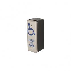 Locknetics PPH-50 Rectangular Narrow Push Plate W/ Black Box, Stainless Steel Faceplate W/ S.P.D.T. Switch