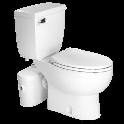 Saniflo 081087005 Saniaccess 2 Elongated Combo-Macerator, Elongated Bowl & Toilet Tank
