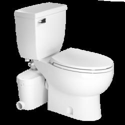 Saniflo 082087005 Saniaccess3 Elongated Combo-Macerator, Elongated Bowl & Toilet Tank