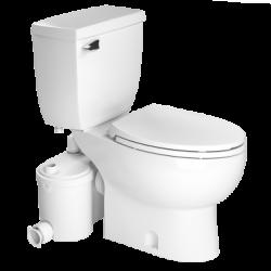 Saniflo 013087005 Sanibest Pro Elongated Combo-Grinder, Elongated Bowl & Toilet Tank