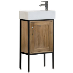 "Design Element DEC4019 Bristol 18.5"" Single Sink Vanity in Natural"