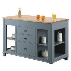 Design Element Medley 54 In. Kitchen Island With Slide Out Table