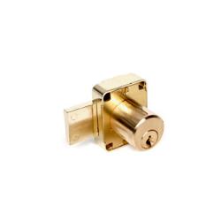 "CCL 00128 737 Cabinet Lock, 7/8"", Pin Tumbler, Satin Brass"