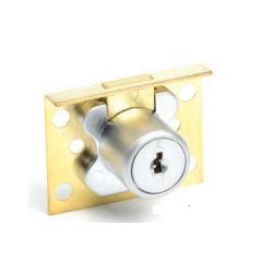 "CCL 00 Drawer Lock, Disc Tumbler, Finsh -Satin Brass, Length - 7/8"""