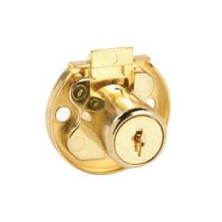 CCL 00180 2068 1/2 Drawer Lock, Disc Tumbler, 02068 7/8 Keyed Different , Finish-Satin Brass