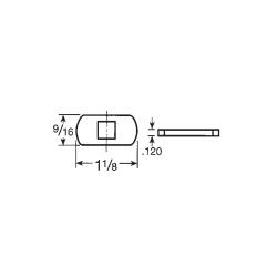 "CCL 142F6380002G 15751ED, Length- 1-1/8"" Straight Cam, Finsh- Zinc Plated"
