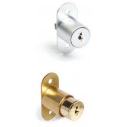 "CCL 2069 Series. Length- 7/8"", Keying- JVR, Push & Turn Sliding Door Lock"