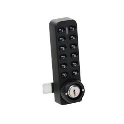 CCL E903VMB i-LOCK, Button Cam Lock, 12-Button, Vertical, Multi Mode - Die-Cast/Black