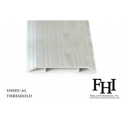 FHI 550HD-AL Heavy Duty Aluminum Threshold W/ Mill Finish