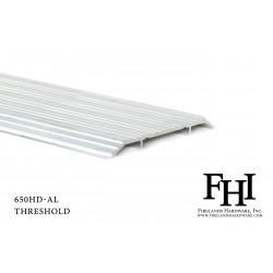 FHI 650HD-AL Heavy Duty Aluminum Threshold W/ Mill Finish