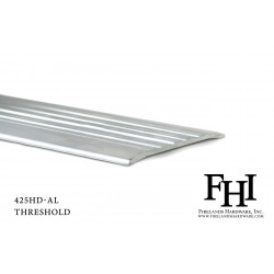FHI 425HD-AL Heavy Duty Aluminum Threshold W/ Mill Finish