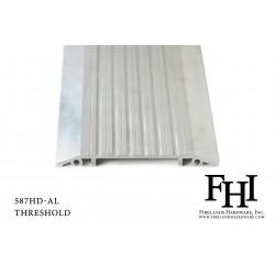 FHI 587 Heavy Duty Aluminum Threshold W/ Mill Finish