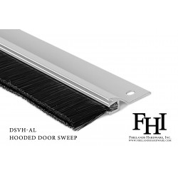 FHI DSVH Hooded Door Sweep W/ EPDM Rubber Insert