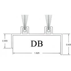 FHI DB Aluminum Door Bottom Sweep W/ EPDM Rubber Insert W/ Mill Finish 6063 T6 Alloy