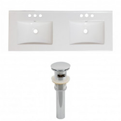 American Imaginations AI-1552 Ceramic Top Set In White Color And Drain