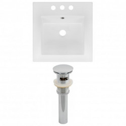 American Imaginations AI-1556 Ceramic Top Set In White Color And Drain