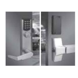 PDQ E6 29 Series Electronic Locking Trim, Electrified Escutcheon Wide Stile, Schlage / C, Satin Chrome, Keyed Different