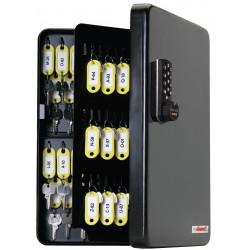 FJM Security SL-9122E KeyGuard Key Cabinet, 122 hooks, Electronic Lock