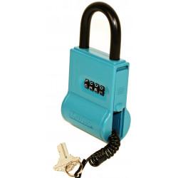 FJM Security SL-100 ShurLok Key Storage Lock Box With Letter Dials, Blue