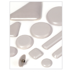 Expended Technologies Nail1 Nail in glide Sliders, Color- White, Size- 1""