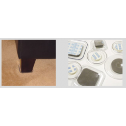 Expended Technologies 247 Clear Carpet Sliders Square