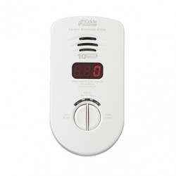 Kidde KN-COP Worry-Free Living Area Plug-in Carbon Monoxide Alarm with Sealed Lithium Battery Backup and Digital Display