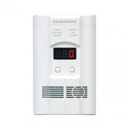 Kidde KN-COEG Nighthawk AC Plug-in Operated Carbon Monoxide and Explosive Gas Alarm with Digital Display