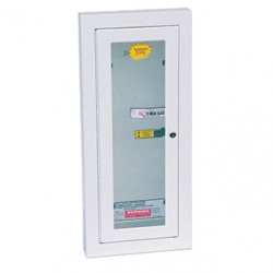 Kidde 468046 Fire Extinguisher Semi-recessed Cabinets/Keyed Steel Cam Lock