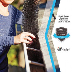 """GutterBrush™ Standard 5-IN, Brush Diameter 4.25"""" Leaf Guard"""